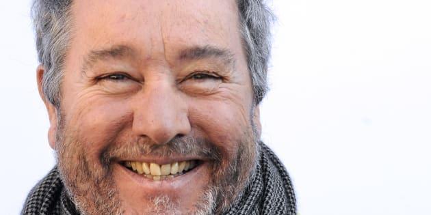 """Philippe Starck à Bordeaux pour la présentation de sa nouvelle création le vélo """"Pibal"""", le 19 février 2013."""