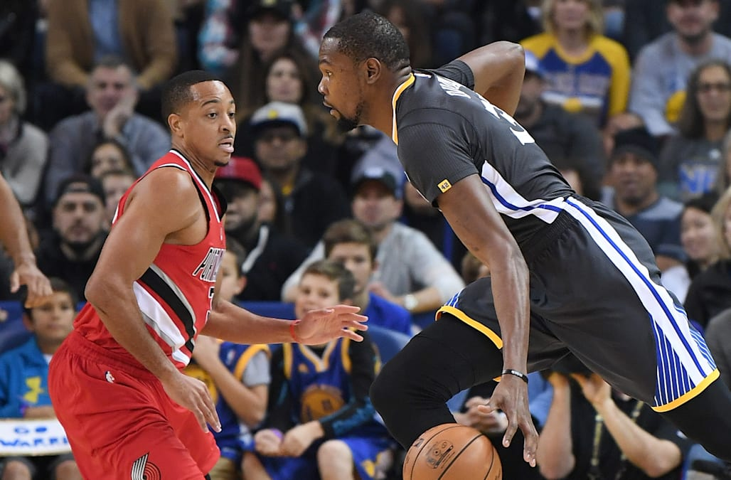 270063813cca A simmering podcast beef has boiled over into an ugly Twitter feud between  Golden State Warriors forward Kevin Durant and Portland Trail Blazers guard  C.J. ...