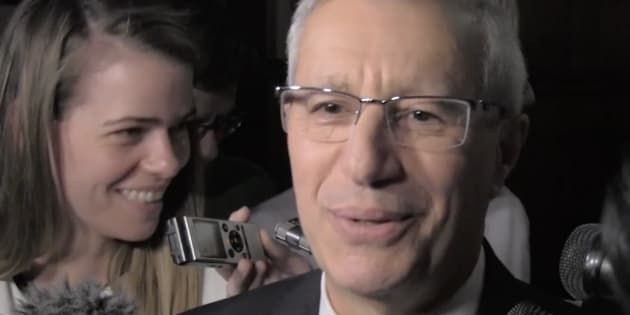 Ontario Finance Minister Vic Fedeli answers a reporter's question about 'intimate' spray for sale on the province's cannabis website.
