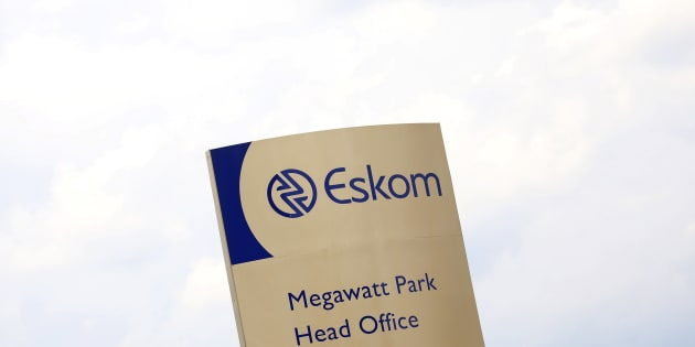 An Eskom logo is seen at the entrance of their head offices in Sunninghill, Sandton, February 24, 2016. South Africa's energy regulator Nersa said on Wednesday it had postponed a decision on tariffs charged by state-run power utility Eskom to March 1 from Feb 25 as it seeks further clarity on diesel costs. REUTERS/Siphiwe Sibeko