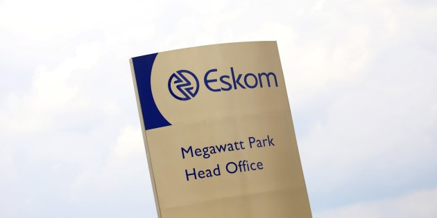 An Eskom logo is seen at the entrance of their head offices in Sunninghill, Sandton, February 24, 2016.