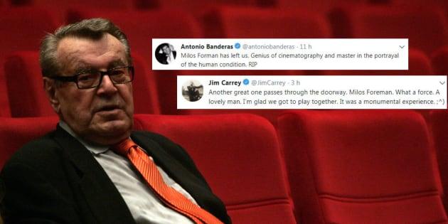"""Mort de Milos Forman: Antonio Banderas, Jim Carrey et le monde du cinéma rend hommage à ce """"génie"""""""