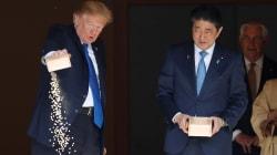 Entre les samouraïs et les carpes, Trump piétine les traditions