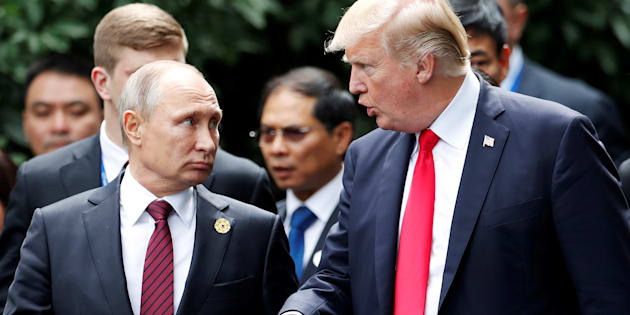 """À l'image de Trump et Poutine, comment s'opère une rencontre entre deux """"mâles alpha""""? (Poutine et Trump, novembre 2017)"""