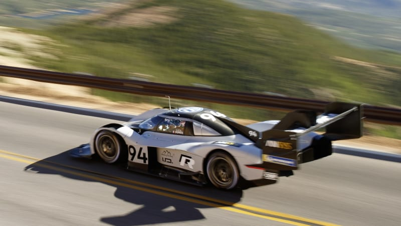 photo image Watch the Volkswagen I.D. R Pikes Peak record run from this bird's eye view