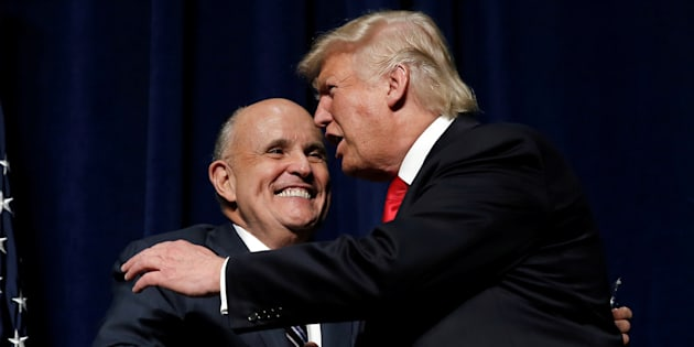 Donald Trump avec l'ex-maire de New-York Rudolph Giuliani