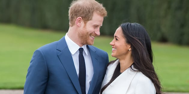 Prince Harry and Meghan Markle during their official engagement photocall on Nov. 27, 2017.