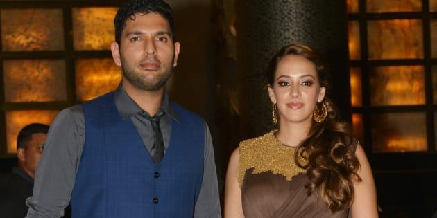 File photo of Yuvraj Singh and Hazel Keech.