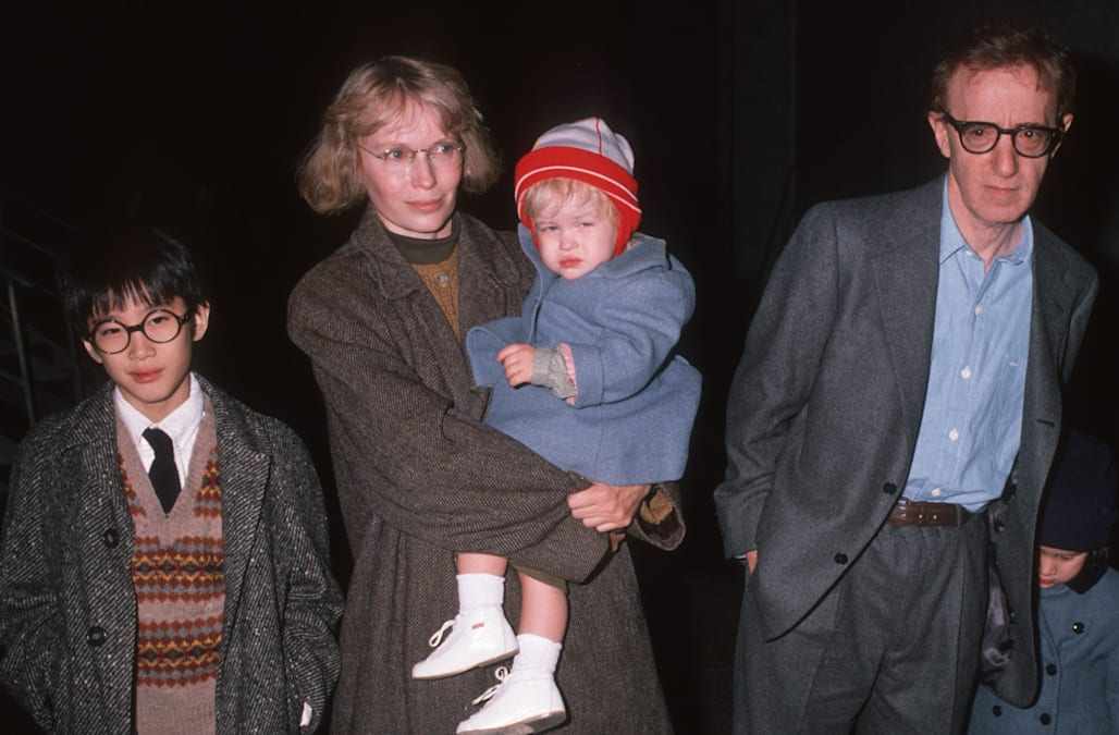 Moses Farrow accuses mom Mia of abuse, defends dad Woody Allen - AOL