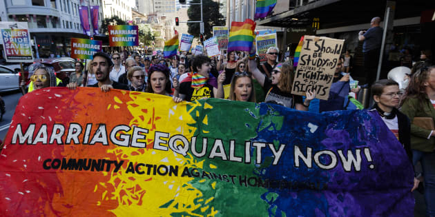 """""""If we are forced to undergo the postal plebiscite, we will do everything we can to show LGBTQ Australians that the country supports them and stands shoulder to shoulder with them for fairness and equality."""""""