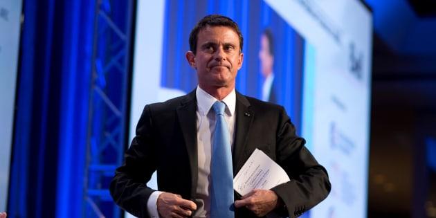 Manuel Valls lors de son déplacement au Canada à la mi-octobre.