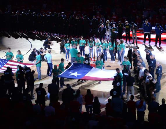 Houston Rockets honor Santa Fe victims at Game 5