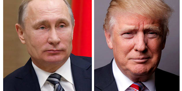 FILE PHOTO: A combination of file photos showing Russian President Vladimir Putin at the Novo-Ogaryovo state residence outside Moscow, Russia, January 15, 2016 and U.S. President Donald Trump posing for a photo in New York City, U.S., May 17, 2016. REUTERS/Ivan Sekretarev/Pool/Lucas Jackson/File Photos       TPX IMAGES OF THE DAY