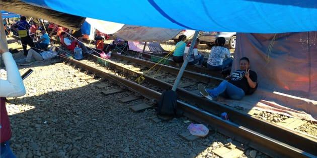 La Coordinadora Nacional de los Trabajadores de la Educación está en paro en el estado de Michoacán y paraliza la logística por ferrocarril desde la capital del estado.