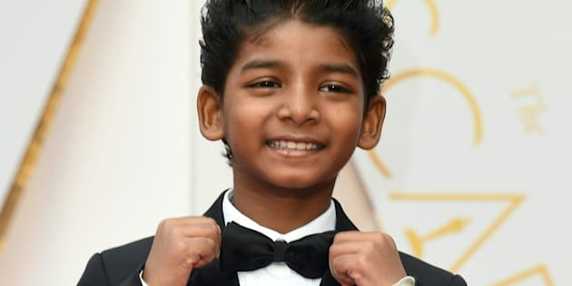 Sunny Pawararrives on the red carpet for the 89th Oscars.