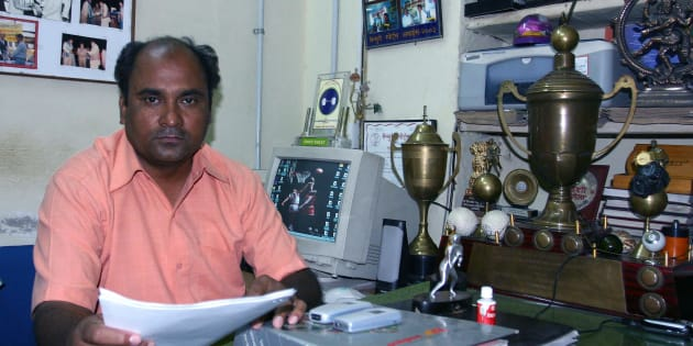 Mohammad Shahid in his office.