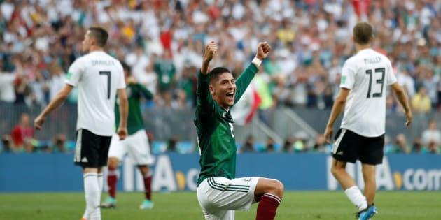 Paritdo en el Estadio Luzhniki de Moscú entre México y Alemania.