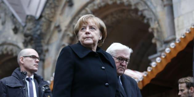 Angela Merkel sur le lieu de l'attentat de Berlin.