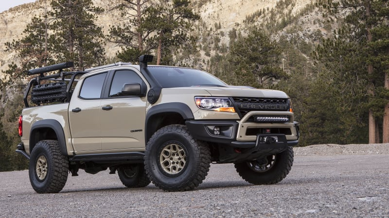 Chevy Certified Pre Owned >> Chevy Colorado ZR2 AEV and Race Development trucks roll into SEMA - Autoblog