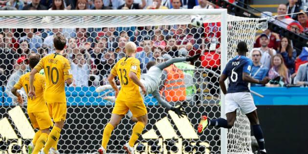 Coupe du monde 2018: le but de Pogba était en fait celui d'Aziz Behich qui a marqué contre son camp