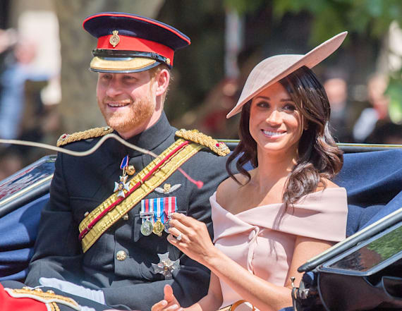 Meghan Markle almost falls at wedding with Harry