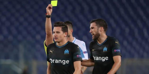 Florian Thauvin et Kévin Strootman sur le terrain de la Lazio de Rome jeudi 8 novembre.