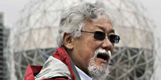 Canadian environmentalist David Suzuki talks to media during a news conference in Vancouver, B.C., June 4, 2012.