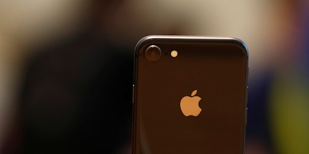 An iPhone 8 is displayed at the Apple Orchard Shop in Singapore Sept. 22, 2017.