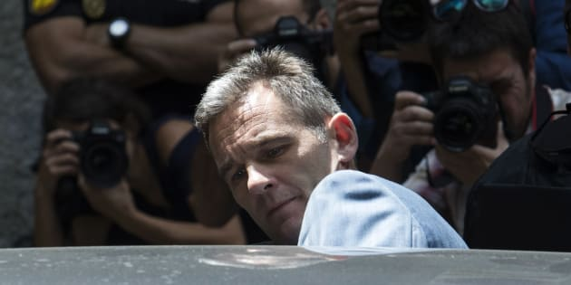 Iñaki Urdangarin abandona la Audiencia de Palma el pasado 13 de junio, tras ser informado de los plazos para su ingreso en prisión.