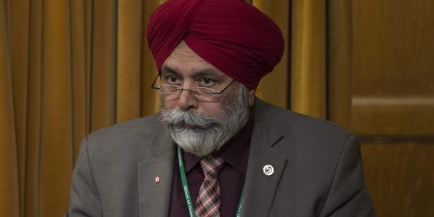 Liberal MP Darshan Singh Kang rises in the House of Commons on April 18, 2016.
