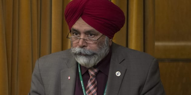 Liberal MP Darshan Singh Kang rises in the House of Commons on April 18, 2016 in Ottawa.