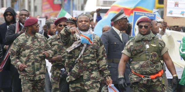 Les expatriés de la République Démocratique du Congo organisent un rassemblement de protestation contre le Président Joseph Kabila_   O'Connell Street, Dublin,