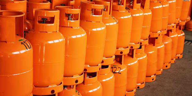 LPG Gas Bottles. LPG plant