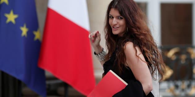 La Secrétaire d'Etat Marlène Schiappa arrive à l'Elysée pour le conseil des ministres, le 24 mai 2017.