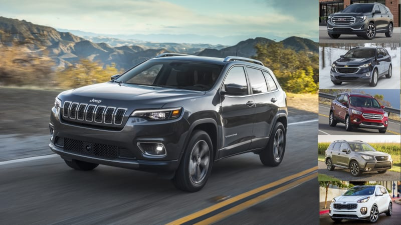 Compare 2019 Jeep Cherokee turbo 2 0L with high-horsepower