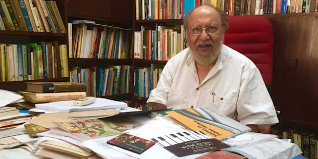 Political psychologist Ashis Nandy in his office in New Delhi.