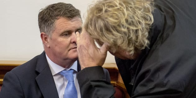 Murder accused Jason Rohde during his trial at the Western Cape High Court on October 09, 2017 in Stellenbosch, South Africa.