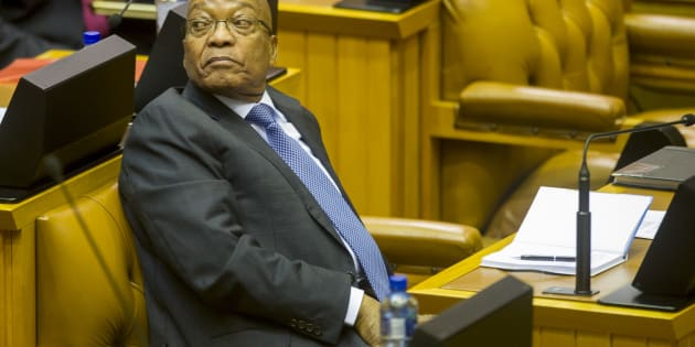 President Jacob Zuma in the National Assembly. He may not get to address MPs ever again.