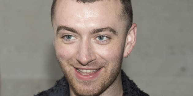 Sam Smith outside the BBC Broadcasting House in London.