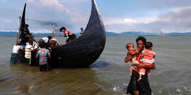 Rohingya Muslims are paying Bangladeshi fisherman to ferry them to safety.