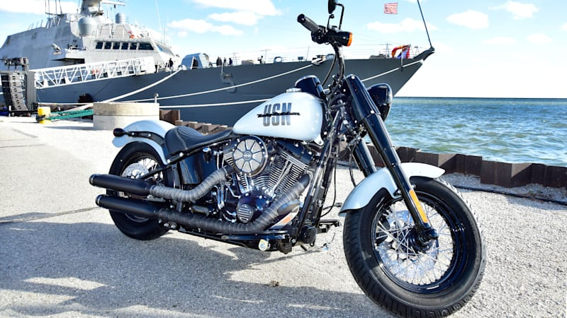 Harley-Davidson creates custom chopper for USS Milwaukee [w/video]