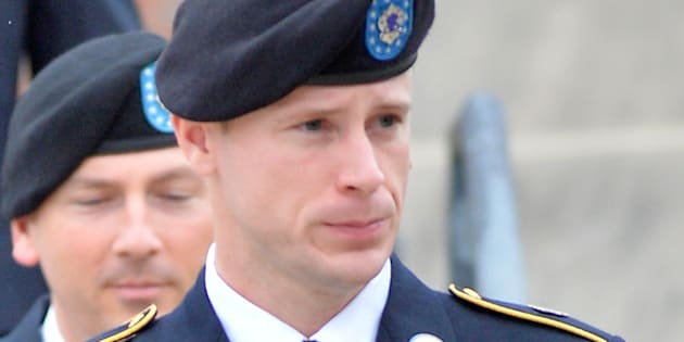 FT. BRAGG, NC - MAY 17:  U.S. Army Sgt. Bowe Bergdahl leaves the Ft. Bragg military courthouse with his legal team after a pretrial hearing on May 17, 2016 in Ft. Bragg, North Carolina. Bergdahl faces charges of desertion and endangering troops stemming from his decision to leave his outpost in Afghanistan in 2009, which resulted in his capture and imprisonment for five years by the Taliban.  (Photo by Sara D. Davis/Getty Images)