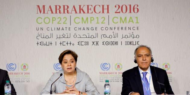 Conférence de presse lors de la Cop 22 à Marrakech le 6 novembre 2016. REUTERS/Youssef Boudlal