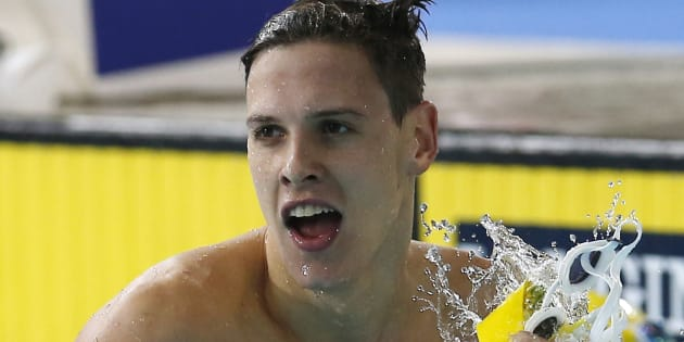 While his girlfriend is vying for an Olympic gold, he'll be putting his togs on.