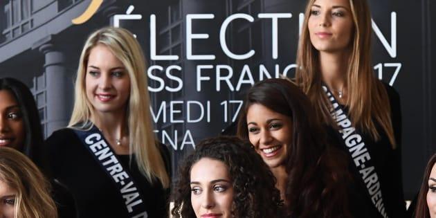 Les participantes à Miss France 2017 à Montpellier le 3 décembre 2017. AFP PHOTO / PASCAL GUYOT