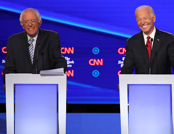 Sanders returns to debate 2 weeks after heart attack