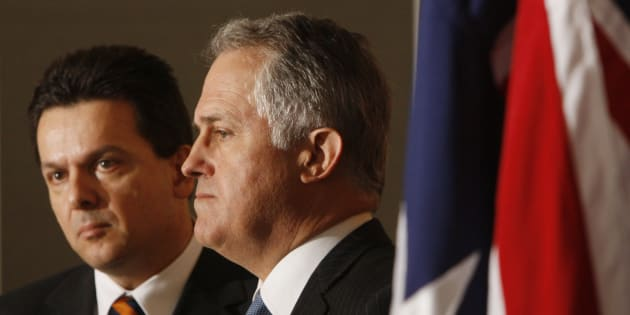 Malcolm Turnbull and Nick Xenophon, in 2009.