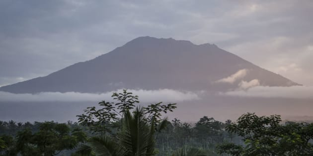 Mount Agung volcano last erupted in the 1960s, killing more than 1000 people.