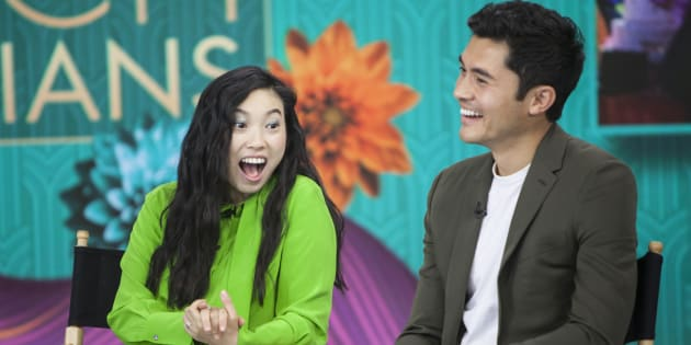 """From left to right: """"Crazy Rich Asians"""" stars Awkwafina and Henry Golding make the list."""