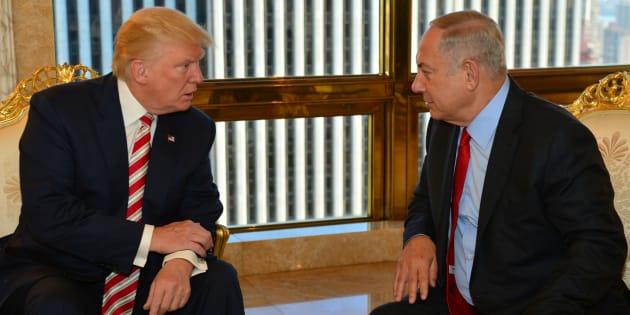Le premier ministre d'Israël Benjamin Netanyahu reçu par Donald Trump à New York le 25 septembre, durant la campagne pour l'élection présidentielle américaine.
